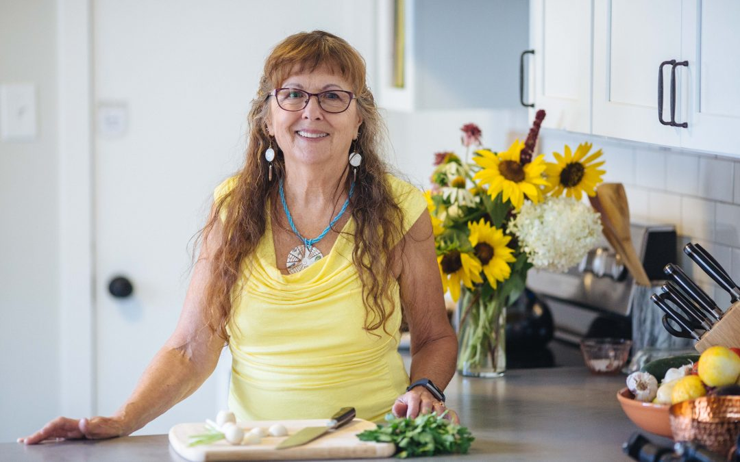 Cassandra Orjala in the kitchen at Radiant Health
